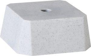Цоколь пластиковый белый WP763
